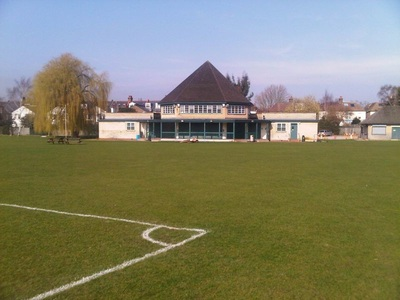 The pitches at Dulwich Sports Ground London