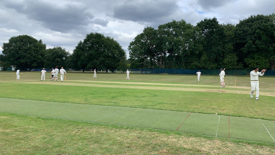 Mid cricket match at Dulwich Sports Ground London (DSG)