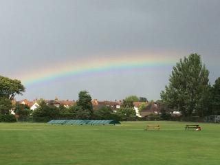 The rainbow at Dulwich Sports Ground London (DSG)