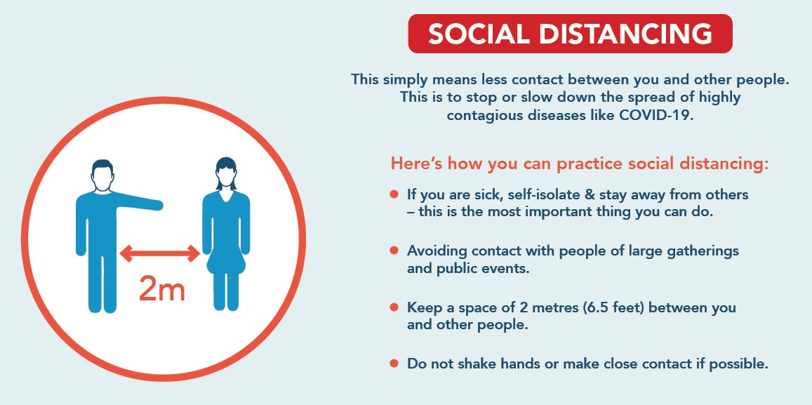 Advice on maintaining social distancing at Dulwich Sports Ground
